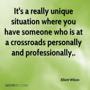 It's a really unique situation where you have someone who is at a crossroads personally and professionally.