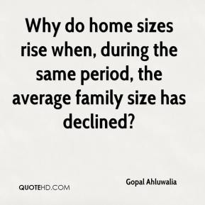 Why do home sizes rise when, during the same period, the average family size has declined?