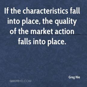 Greg Nie - If the characteristics fall into place, the quality of the market action falls into place.