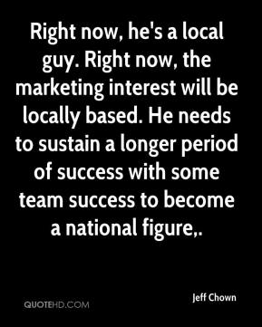 Jeff Chown  - Right now, he's a local guy. Right now, the marketing interest will be locally based. He needs to sustain a longer period of success with some team success to become a national figure.