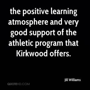 the positive learning atmosphere and very good support of the athletic program that Kirkwood offers.
