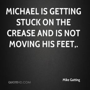 Mike Gatting  - Michael is getting stuck on the crease and is not moving his feet.