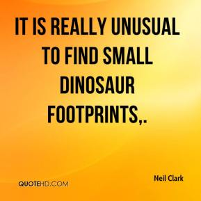 Neil Clark  - It is really unusual to find small dinosaur footprints.