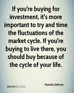 If you're buying for investment, it's more important to try and time the fluctuations of the market cycle. If you're buying to live there, you should buy because of the cycle of your life.