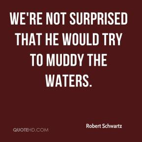 Robert Schwartz  - We're not surprised that he would try to muddy the waters.