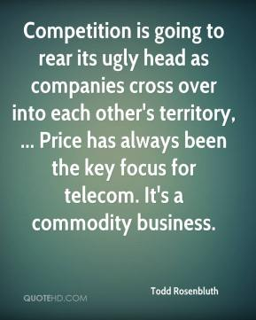 Competition is going to rear its ugly head as companies cross over into each other's territory, ... Price has always been the key focus for telecom. It's a commodity business.
