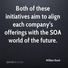 William Band  - Both of these initiatives aim to align each company's offerings with the SOA world of the future.