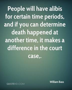 William Bass  - People will have alibis for certain time periods, and if you can determine death happened at another time, it makes a difference in the court case.
