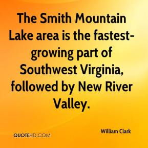 The Smith Mountain Lake area is the fastest-growing part of Southwest Virginia, followed by New River Valley.