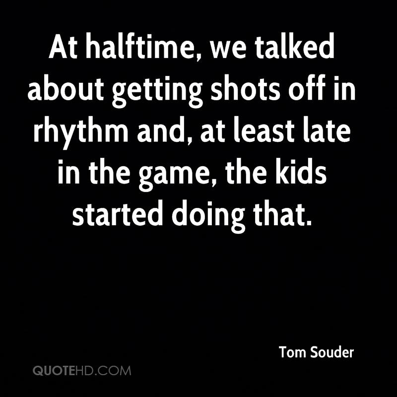 At halftime, we talked about getting shots off in rhythm and, at least late in the game, the kids started doing that.