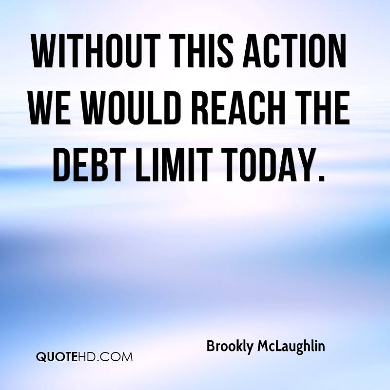 Without this action we would reach the debt limit today.
