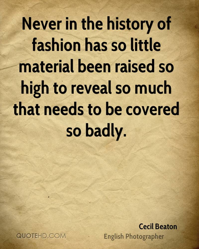 Never in the history of fashion has so little material been raised so high to reveal so much that needs to be covered so badly.