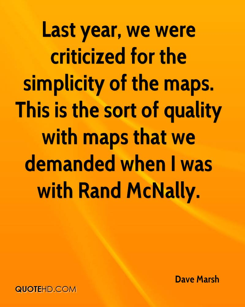 Last year, we were criticized for the simplicity of the maps. This is the sort of quality with maps that we demanded when I was with Rand McNally.