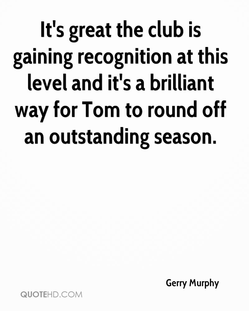 It's great the club is gaining recognition at this level and it's a brilliant way for Tom to round off an outstanding season.
