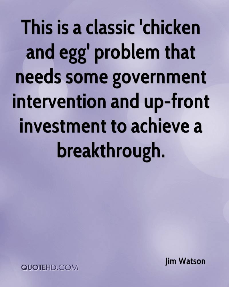 This is a classic 'chicken and egg' problem that needs some government intervention and up-front investment to achieve a breakthrough.