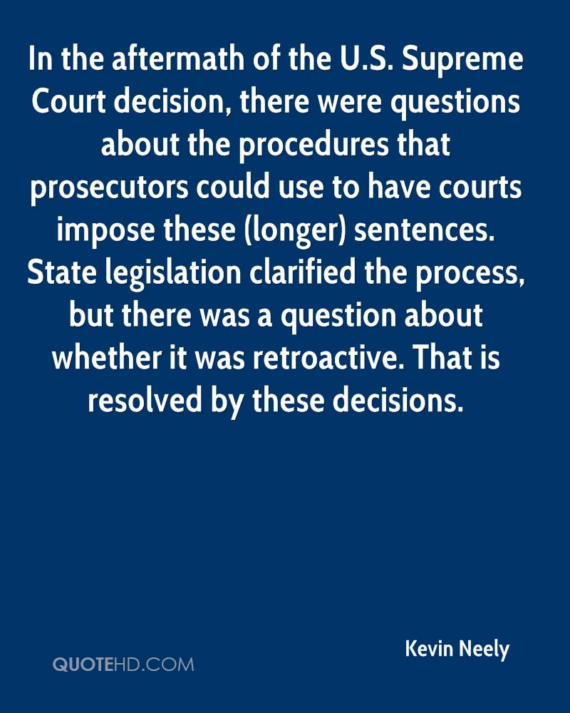 In the aftermath of the U.S. Supreme Court decision, there were questions about the procedures that prosecutors could use to have courts impose these (longer) sentences. State legislation clarified the process, but there was a question about whether it was retroactive. That is resolved by these decisions.