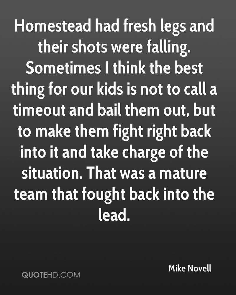 Homestead had fresh legs and their shots were falling. Sometimes I think the best thing for our kids is not to call a timeout and bail them out, but to make them fight right back into it and take charge of the situation. That was a mature team that fought back into the lead.