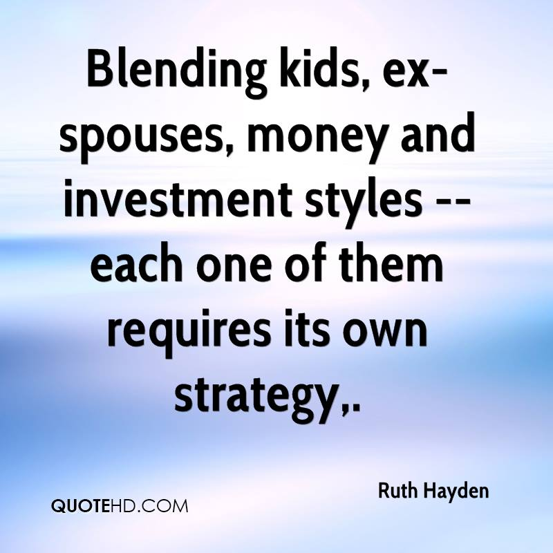 Blending kids, ex-spouses, money and investment styles -- each one of them requires its own strategy.