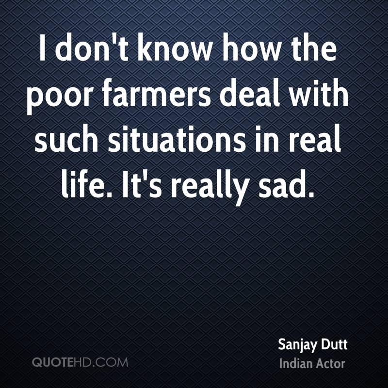 I don't know how the poor farmers deal with such situations in real life. It's really sad.