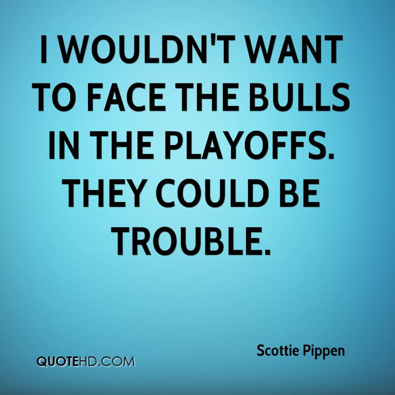 I wouldn't want to face the Bulls in the playoffs. They could be trouble.