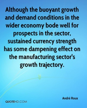André Roux - Although the buoyant growth and demand conditions in the wider economy bode well for prospects in the sector, sustained currency strength has some dampening effect on the manufacturing sector's growth trajectory.
