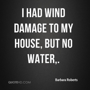 I had wind damage to my house, but no water.