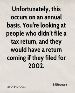 Unfortunately, this occurs on an annual basis. You're looking at people who didn't file a tax return, and they would have a return coming if they filed for 2002.