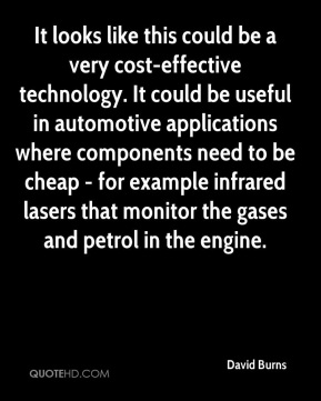It looks like this could be a very cost-effective technology. It could be useful in automotive applications where components need to be cheap - for example infrared lasers that monitor the gases and petrol in the engine.