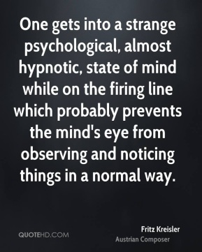 One gets into a strange psychological, almost hypnotic, state of mind while on the firing line which probably prevents the mind's eye from observing and noticing things in a normal way.