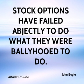 Stock options have failed abjectly to do what they were ballyhooed to do.