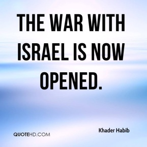 The war with Israel is now opened.