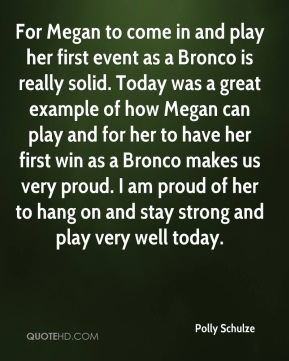 For Megan to come in and play her first event as a Bronco is really solid. Today was a great example of how Megan can play and for her to have her first win as a Bronco makes us very proud. I am proud of her to hang on and stay strong and play very well today.