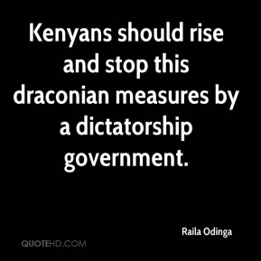 Kenyans should rise and stop this draconian measures by a dictatorship government.