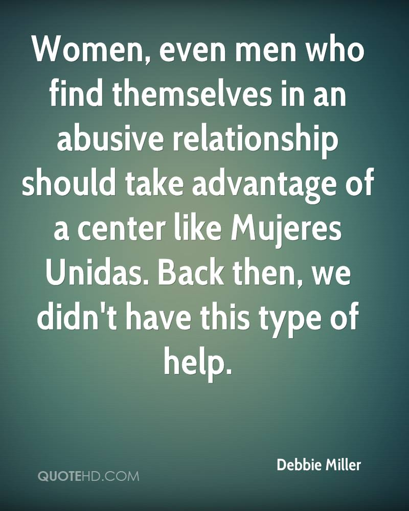 Women, even men who find themselves in an abusive relationship should take advantage of a center like Mujeres Unidas. Back then, we didn't have this type of help.
