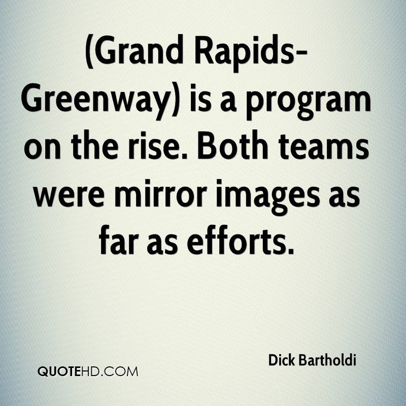 (Grand Rapids-Greenway) is a program on the rise. Both teams were mirror images as far as efforts.