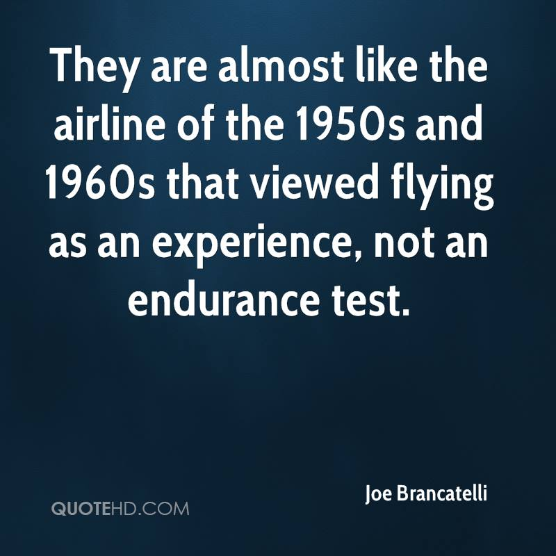 They are almost like the airline of the 1950s and 1960s that viewed flying as an experience, not an endurance test.