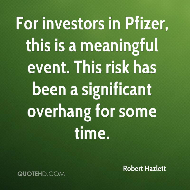 For investors in Pfizer, this is a meaningful event. This risk has been a significant overhang for some time.