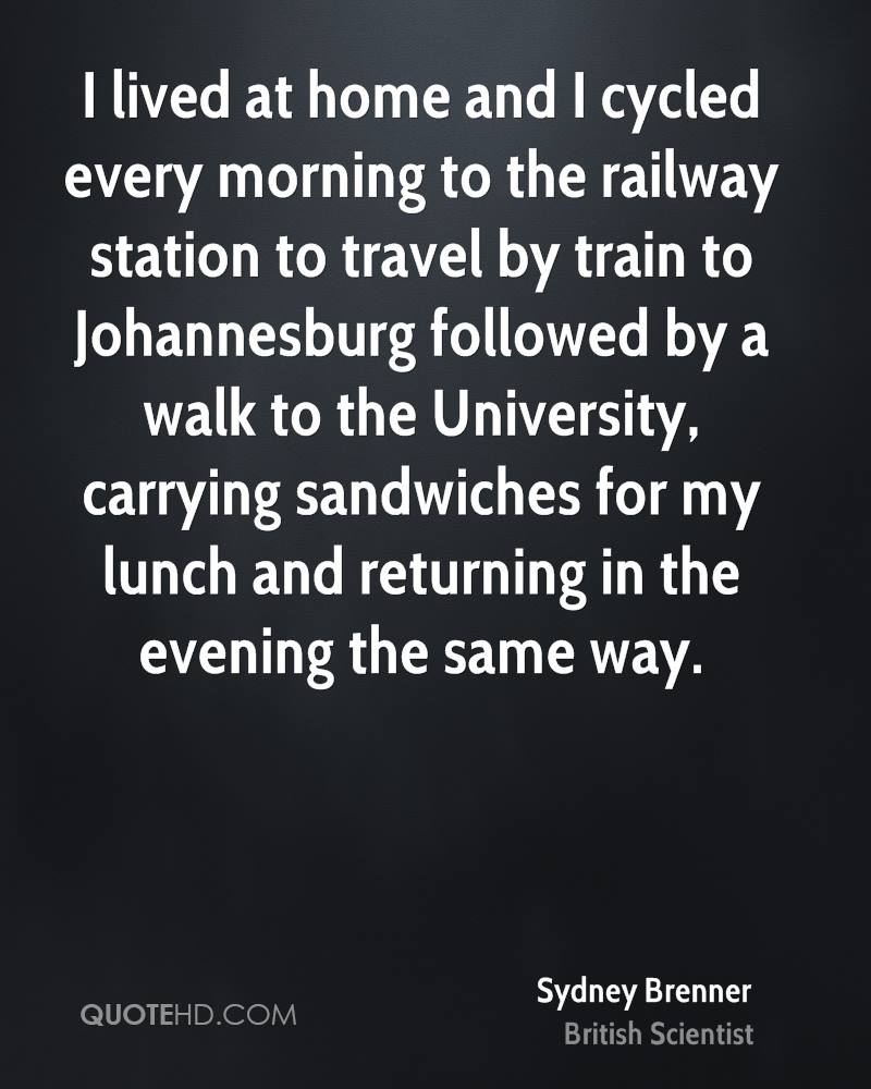 I lived at home and I cycled every morning to the railway station to travel by train to Johannesburg followed by a walk to the University, carrying sandwiches for my lunch and returning in the evening the same way.