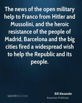 The news of the open military help to Franco from Hitler and Mussolini, and the heroic resistance of the people of Madrid, Barcelona and the big cities fired a widespread wish to help the Republic and its people.