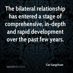 The bilateral relationship has entered a stage of comprehensive, in-depth and rapid development over the past few years.