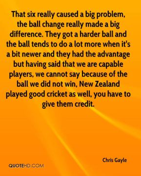 That six really caused a big problem, the ball change really made a big difference. They got a harder ball and the ball tends to do a lot more when it's a bit newer and they had the advantage but having said that we are capable players, we cannot say because of the ball we did not win, New Zealand played good cricket as well, you have to give them credit.