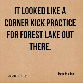 Dave Molina - It looked like a corner kick practice for Forest Lake out there.