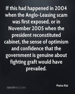 Maina Kiai  - If this had happened in 2004 when the Anglo-Leasing scam was first exposed, or in November 2005 when the president reconstituted cabinet, the sense of optimism and confidence that the government is genuine about fighting graft would have prevailed.