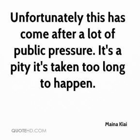 Maina Kiai  - Unfortunately this has come after a lot of public pressure. It's a pity it's taken too long to happen.