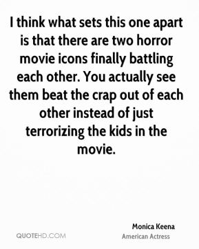 I think what sets this one apart is that there are two horror movie icons finally battling each other. You actually see them beat the crap out of each other instead of just terrorizing the kids in the movie.