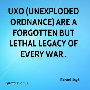 UXO (unexploded ordnance) are a forgotten but lethal legacy of every war.