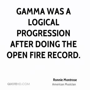 Ronnie Montrose - Gamma was a logical progression after doing the Open Fire record.