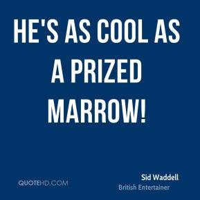 Sid Waddell - He's as cool as a prized marrow!