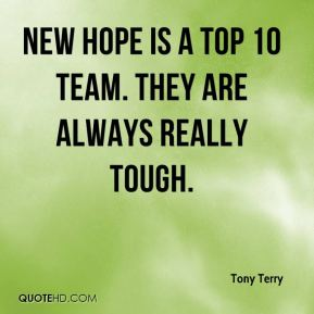 New Hope is a Top 10 team. They are always really tough.