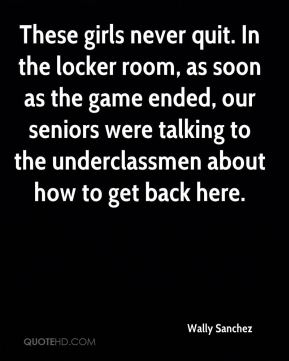 These girls never quit. In the locker room, as soon as the game ended, our seniors were talking to the underclassmen about how to get back here.